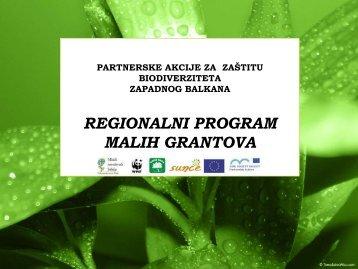 Prezentacija Regionalni program malih grantova