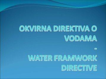 Okvirna direktiva u vodama_J Marojevic - Početak