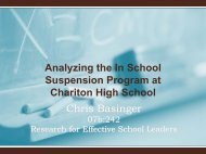 Chris Basinger 07b:242 Research for Effective School ... - Employment