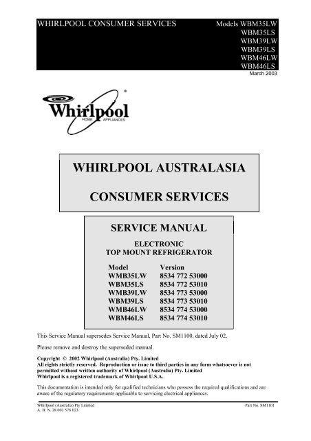 Whirlpool Uk Refrigerator Models