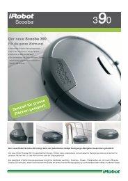 Der neue Scooba 390 Speziell für grosse Flächen geeignet!