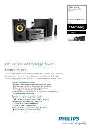 Natürlicher und lebendiger Sound - Philips