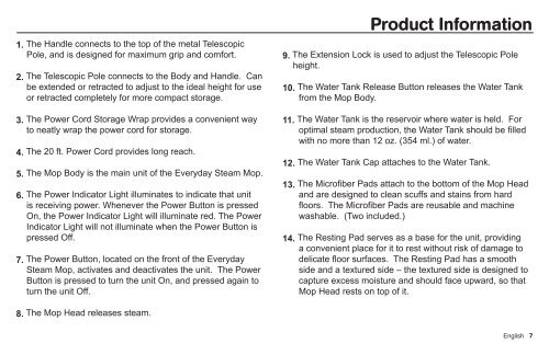 Product Information The f