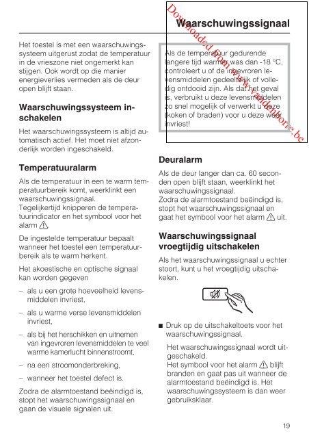 Gebruiks- en montageaanwijzing Diepvriezer met ... - Vanden Borre