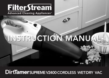 INSTRUCTION MANUAL INSTRUCTION MANUAL - Filterstream