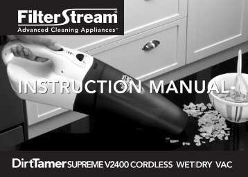 INSTRUCTION MANUAL INSTRUCTION MANUAL - Filterstream