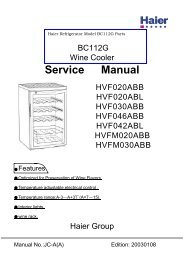 BC112C Service Manual - Appliance 911 Sea Breeze