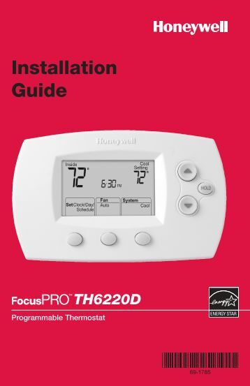 TH6220D-Programmable Thermostat Installation Guide - Air & Water