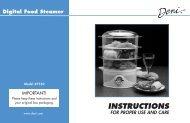 Digital Food Steamer - Deni