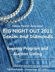 big night out 2011 - Allenby Parents' Association