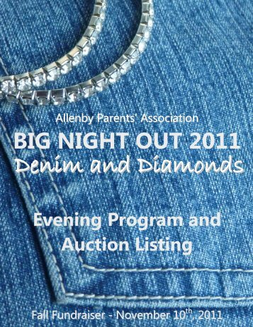 big night out 2011 - Allenby Parents' Association