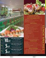 Lunch menu - City Video Guide