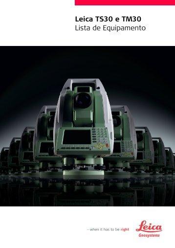 Leica TS30 e TM30 Lista de Equipamento