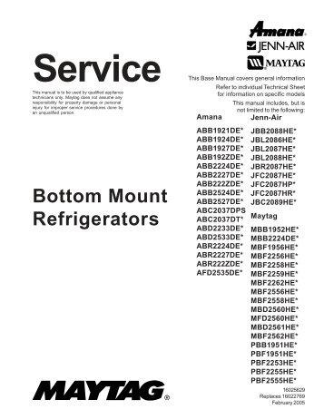 mfi2568aes service manual appliance 911 sea breeze rh yumpu com MFI2568AES Recall maytag mfi2568aes service manual