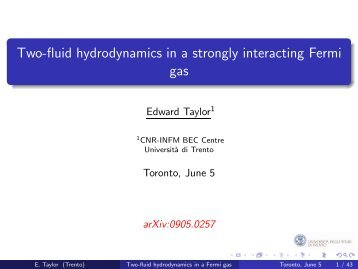 Two-fluid hydrodynamics in a strongly interacting Fermi gas