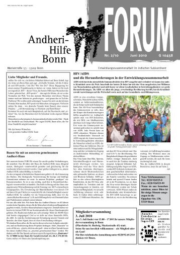 HIV/AIDS - Andheri-Hilfe Bonn