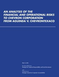 an analysis of the financial and operational risks to ... - ChevronToxico