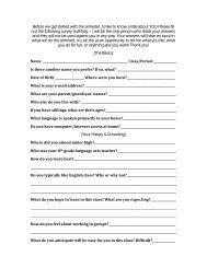 Student Interest Survey - Employment