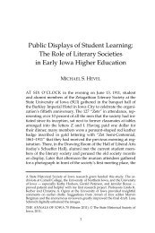 Public Displays of Student Learning: The Role of Literary Societies ...