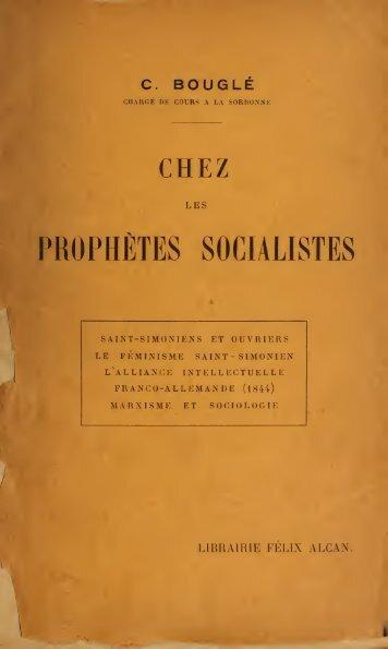 Chez les prophètes socialistes