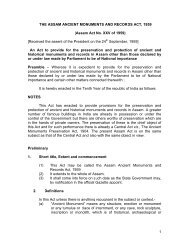 1 THE ASSAM ANCIENT MONUMENTS AND RECORDS ACT, 1959 ...
