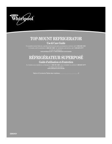 top-mount refrigerator réfrigérateur superposé - Appliance 911 Forum