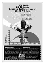 Teilkreisregner ZE 30 W