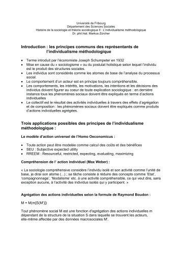 Introduction : les principes communs des représentants de l ...