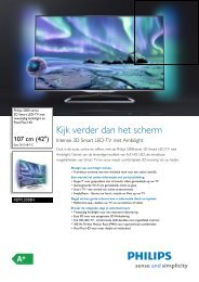42PFL5038H/12 Philips 3D Smart LED-TV met ... - Vanden Borre