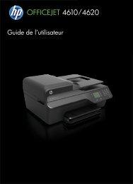HP Officejet 4610/4620 User Guide – FRWW - Vanden Borre