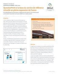 QuestionPoint à la base du service de référence virtuelle en - OCLC