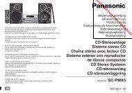 CD-Stereoanlage Sistema stereo CD Chaîne stéréo ... - Vanden Borre