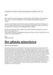 Det glömda minoriteten - Sveriges Radio