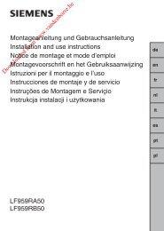 LF959RA50 LF959RB50 Montageanleitung und ... - Vanden Borre