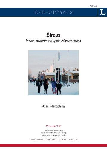 Stress - Luleå tekniska universitet