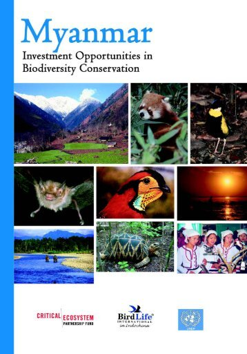 Myanmar: Investment Opportunities in Biodiversity Conservation