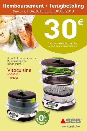 Seb - Vitacuisine - € 30 CB: april - juni 2013