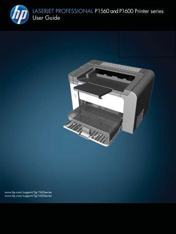 HP LaserJet P1560 and P1600 User Guide - ENWW - Vanden Borre