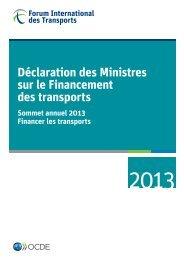 Déclaration des Ministres sur le Financement des transports ...