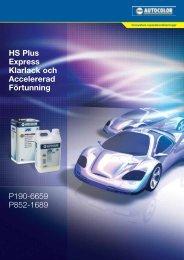 HS Plus Express Klarlack och Accelererad ... - PPG Industries