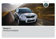 ŠkodaYeti INSTRUKTIONSBOK - Media Portal - Škoda Auto