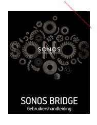 sonos bridge - Vanden Borre