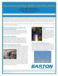 Manufacturing Skills Certification - Barton Community College