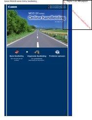 Canon MG5100 series Online handleiding - Vanden Borre
