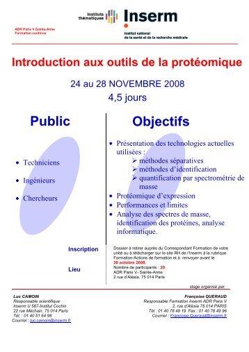 Introduction aux outils de la protéomique - Institut de Cancérologie ...
