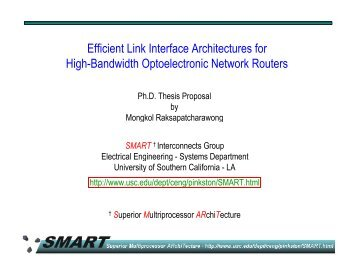 Efficient Link Interface Architectures for High Bandwidth ...