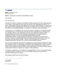 Hej Thomas Tack för ditt mail. De villkor som gäller i Sverige ... - Tænk