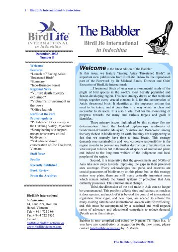 document - Birdlife International in Indochina
