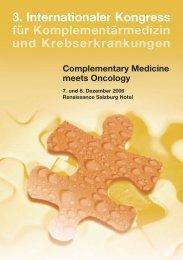 3. Internationaler Kongress für Komplementärmedizin und ...