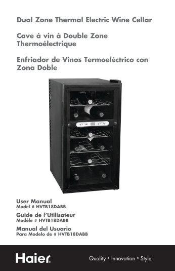 Dual Zone Thermal Electric Wine Cellar Cave à vin à Double Zone ...
